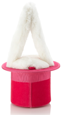 Olympia Le-Tan Candy Pink Velvet Top Hat Bag, $1,135 Now $454