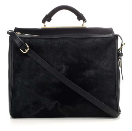 3.1 Phillip Lim Black Fur Ryder Shoulder Bag, $1,250