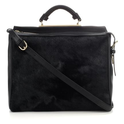 3.1 Phillip Lim Black Fur Ryder Shoulder Bag, $1,250