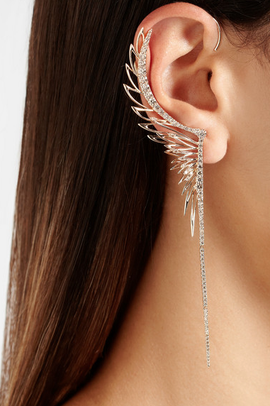 CristinaOrtiz 9-karat rose gold diamond large ear cuff, $9,500