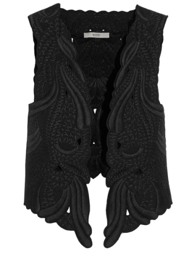 Etro Silk-embroidered cotton-twill vest, $2,610