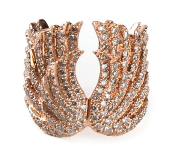 Elise Dray Rose Gold & Diamond Pavé Phalanx Wings Ring, $5,442.11