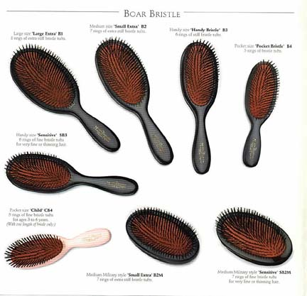 The Various Sizes & Types of the Mason Pearson Brush
