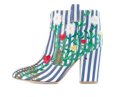 Laurence Dacade Embroidered Ankle Boots, blue, $748.51