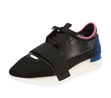 Balenciaga Bicolor Trainer Sneaker, Bubblegum, $695