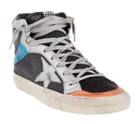 Golden Goose Distressed High-Top Sneakers, $545