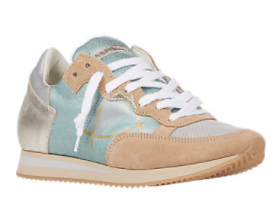 Philippe Model Metallic Leather & Suede Sneakers, $350