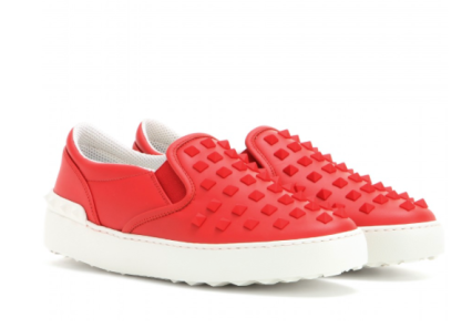 Valentino Rockstud leather slip-on sneakers, $945