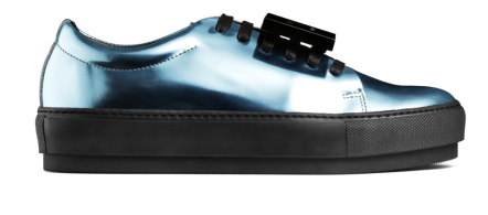 Acne Studios Adriana Metallic Baby Blue Sneakers, $430