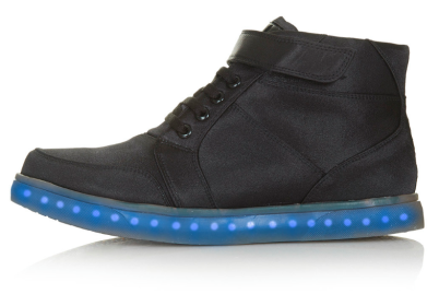 Techno Light-Up Hi-Top Trainers by Topshop x Glow