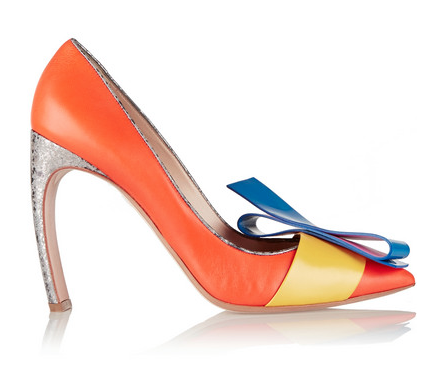 Nicholas Kirkwood + Roksanda Ilincic bow-embellished leather pumps, $840