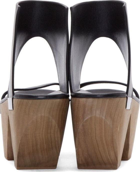 Rick Owens Black Monster Clog Sandals, $1,700