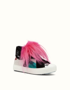 Fendi 'Karlito' Genuine Fox Fur Trim High Top Sneaker, $1,550