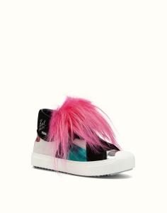 Fendi 'Karlito' Genuine Fox Fur Trim High Top Sneaker, $1,550