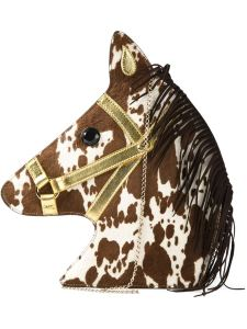 Charlotte Olympia horse head clutch, $995.00