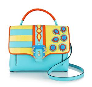 Paula Cademartori Petite Faye embellished elaphe and leather shoulder bag, $2,410