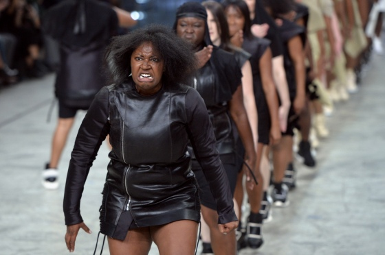 A Shot From Rick Owens' Spring/Summer 2014 Runway