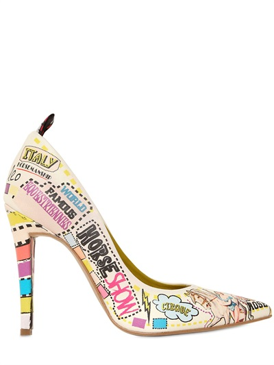 Leo Circus Leather Pumps, $182
