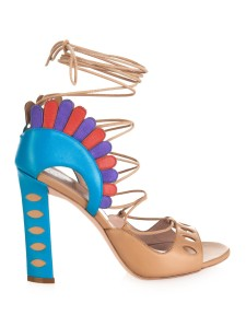 Paula Cademartori Lotus Lace-Up Sandals, $1,053