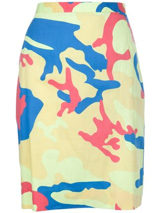 Stephen Sprouse Vintage Andy Warhol print pencil skirt, $1,026
