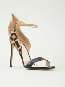 Francesco Russo fur detail leopard print sandals, $1,635.00