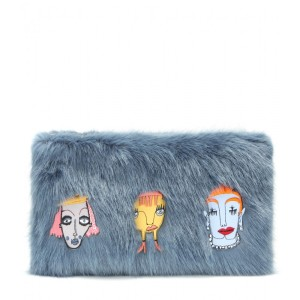 Shrimps Damsel faux fur clutch, $315