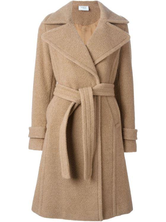 Akris oversized lapels belted coat, $1,498.09