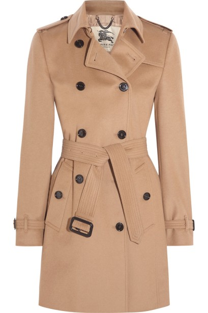 Burberry London The Kensington Mid wool and cashmere-blend felt trench coat, $1,595