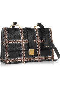 Miu Miu Madras printed textured-leather shoulder bag, $1,910