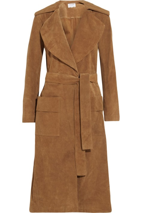 Frame Denim Le Duster suede coat, $1,400