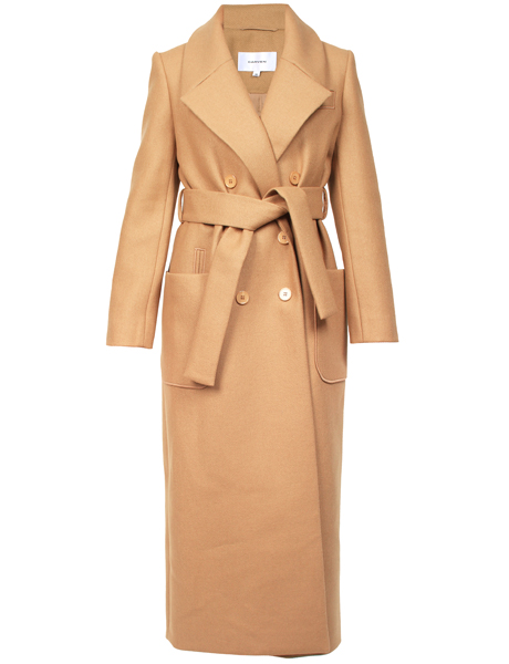 Carven Belted Double-Breasted Coat, $1,520