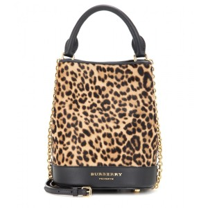 Burberry Prorsum Printed calf hair bucket bag, $2,150
