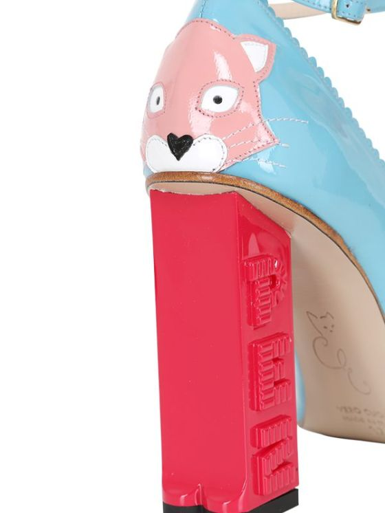 CAMILLA ELPHICK 100MM PEZ CAT PATENT LEATHER PUMPS