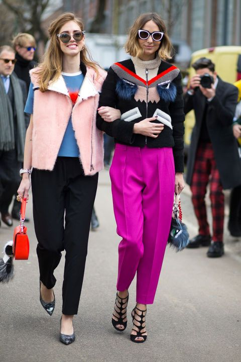 Chiara Ferragni (left) & Candela Novembre (right) wearing oodles and caboodles of Fendi.