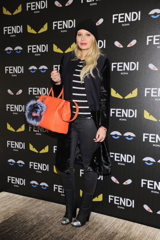 Veronica Ferraro at the Fendi Bag Bugs event in Milan.
