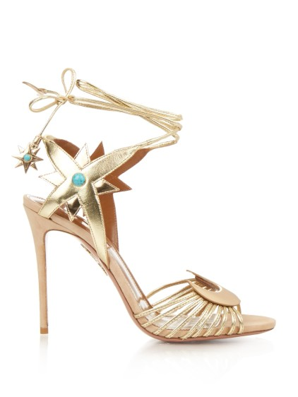 AQUAZZURA X Poppy Delevingne Midnight sandals, $905