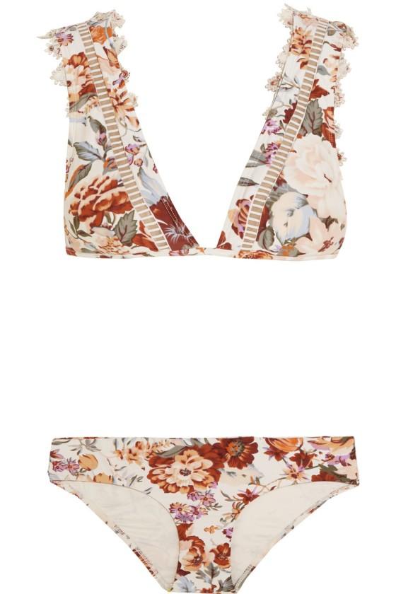 Zimmermann Alchemy floral-print bikini, $295