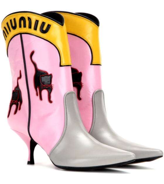 Miu Miu Leather Boots, $1,600, via MyTheresa