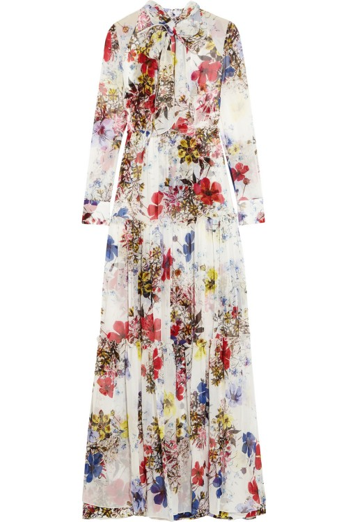 ERDEM Denise floral-print silk-chiffon gown$4,880