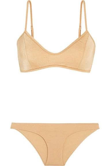 Melissa Obadash Sicily metallic bikini, $220