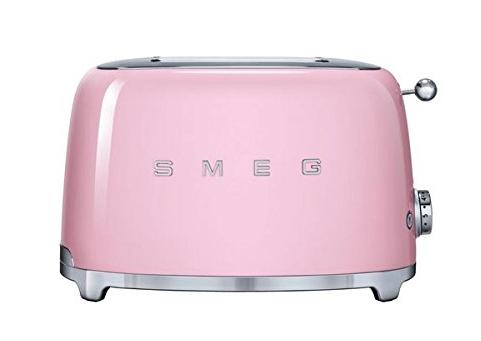 SMEG 50's Retro Style Aesthetic 2 Slice Toaster, Pink, $149
