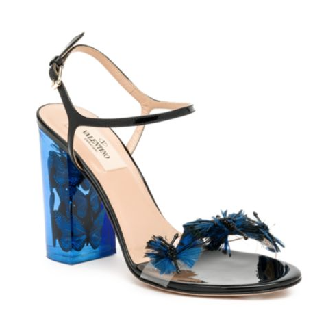 Valentino Butterfly Lucite-Heel Sandals, $2,295