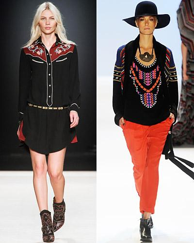 Left, Isabel Marant, Right, Mara Hoffman, Runway Show