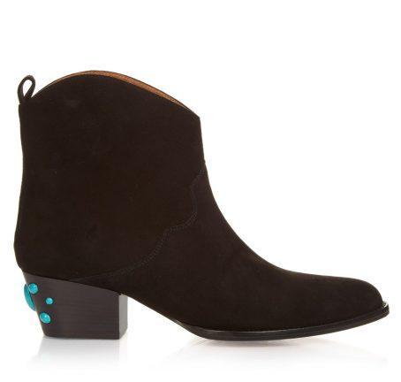 AQUAZZURA Cowboy Bootie suede ankle boots, $955 Now $602