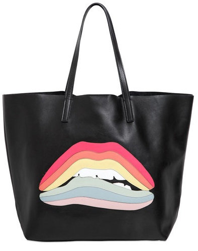 Red Valentino Rainbow Lips Leather Bag, $695, via Luisaviaroma