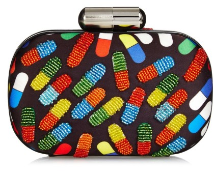 Sarah's Bag Pop Pill bead-embellished box clutch, was $713 Now $356, via MatchesFashion