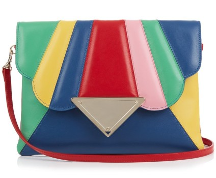 Sara Battaglia rainbow leather clutch, was $955 Now $344, via MatchesFashion