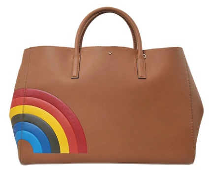 Anya Hindmarch Ebury Maxi Rainbow bag, $2,045, via Monnier Freres