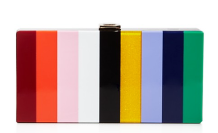 MILLY Rainbow Box Clutch, $295, via Bloomingdales