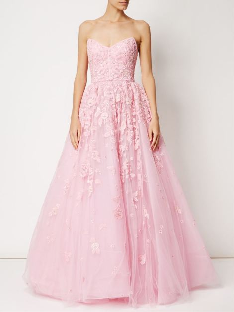 Zuhair Murad embroidered design flared gown, $12,226.54, via FarFetch